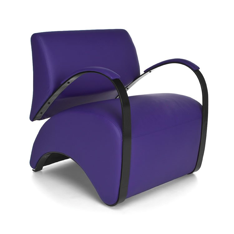 Recoil Lounge Chair 841 Purple AntiMicrobial Scene