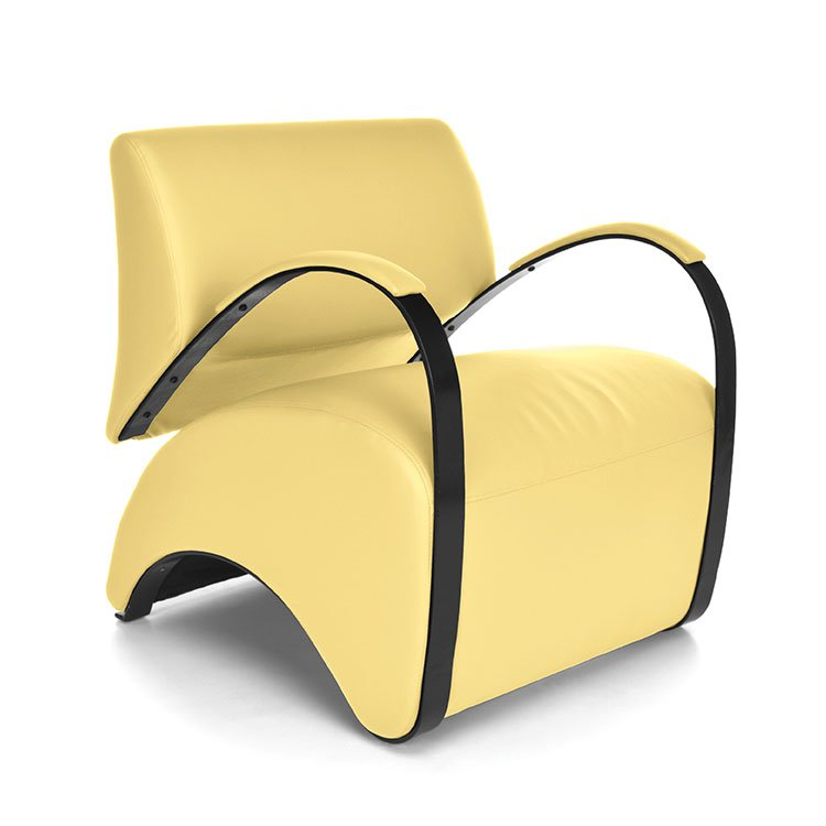 Recoil Lounge Chair 841 Yellow AntiMicrobial