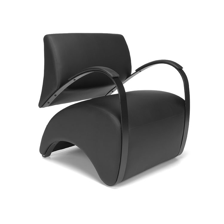 Recoil Lounge Chair 841 Black AntiMicrobial