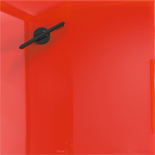 Red Magnetic Dry Erase Glass Markerboards