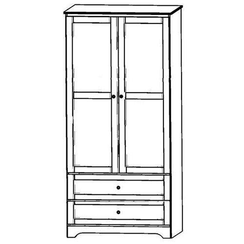 "Sedona 36""w Wardrobe with double door and 2 drawers."