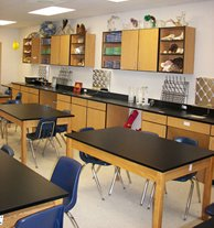 Science Lab Tables and Cabinets