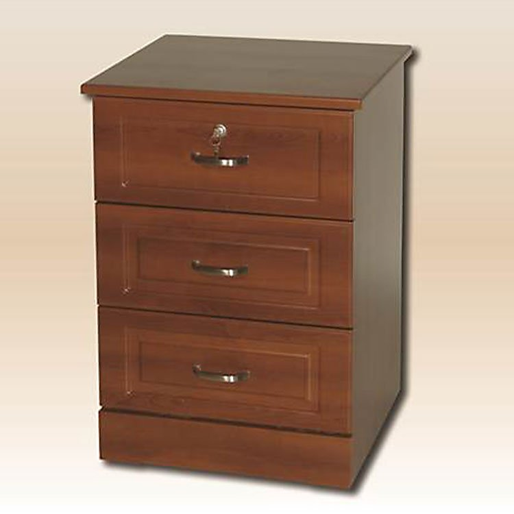 Sedona Patient Room Bedside Table 3 Drawer Traditional
