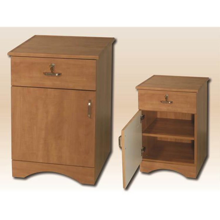 Sedona Patient Room Bedside Table 1 Door 1 Drawer