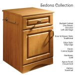 Sedona Patient Room Bedside Table Features Traditional