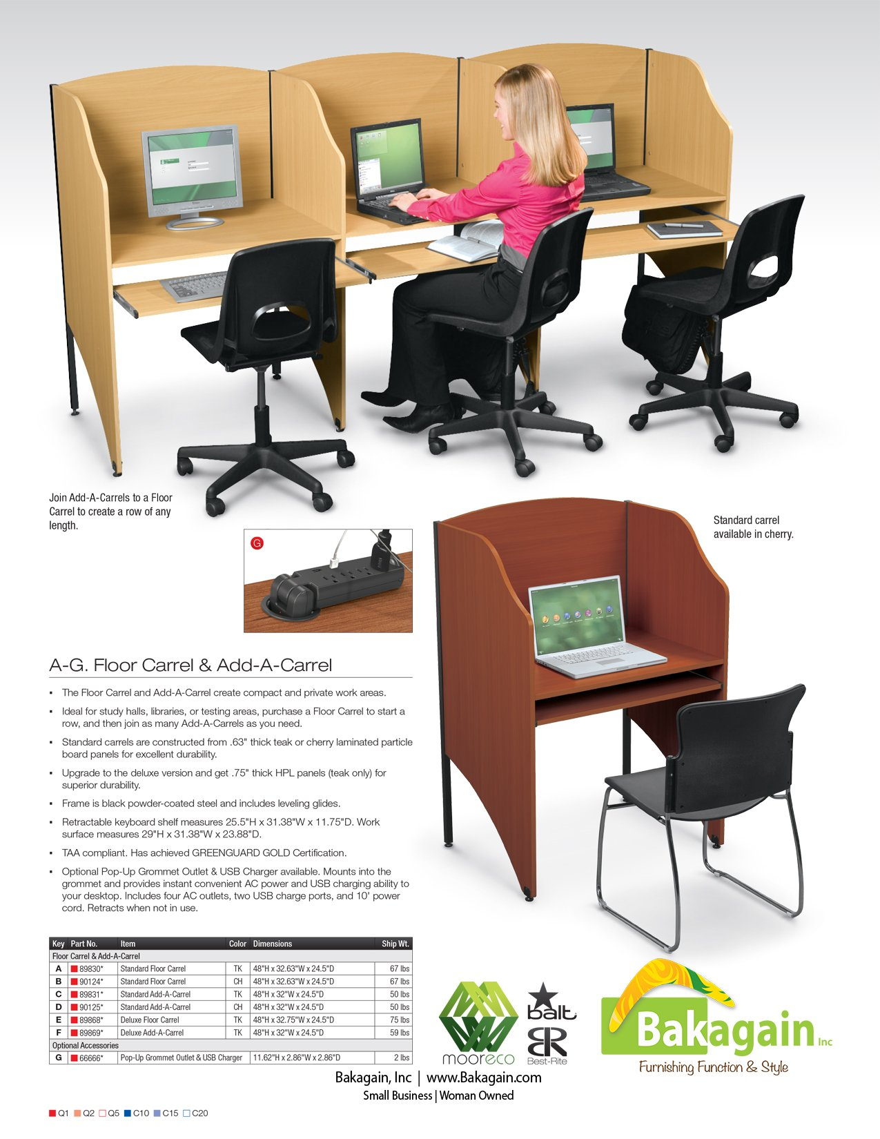 Study Carrel Brochure