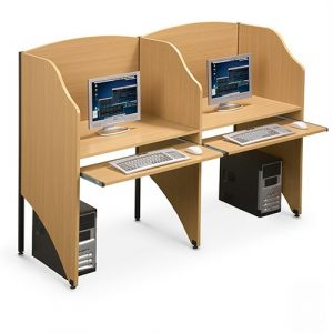 Study Carrels with keyboard pull out shelf