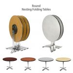 Folding Top Round Nesting Tables Tilt Top