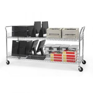 "Media & Utility Wire Carts 24"" x 72"" Loaded"