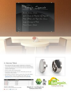 Visionary Black Glass Magnetic Markerboard pg 2