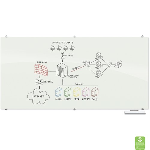 Visionary Glass Magnetic Markerboard Horizontal Dry Erase