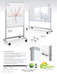 Visionary Move Magnetic Glassboard