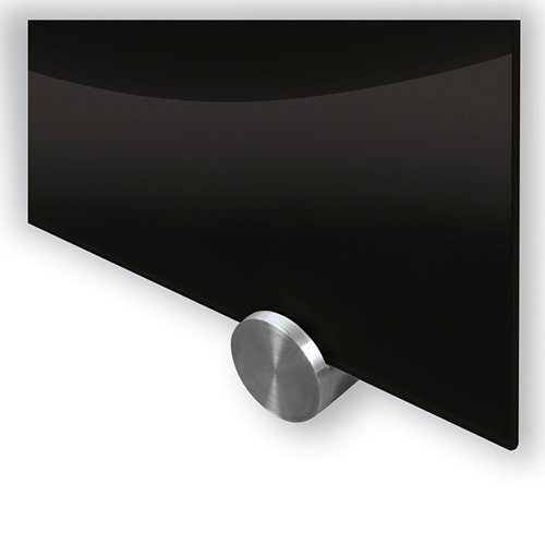 Visionary Black Glass Magnetic Markerboard mounts