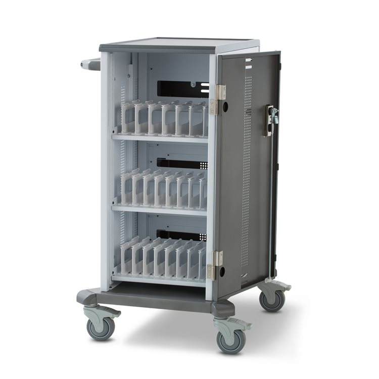 Charging Cart for ChromeBooks Open Empty