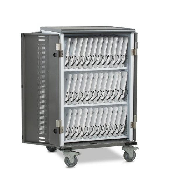 ChromeBook Charging Cart Open Full