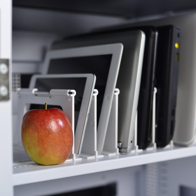 Charging Carts Apple on Shelf
